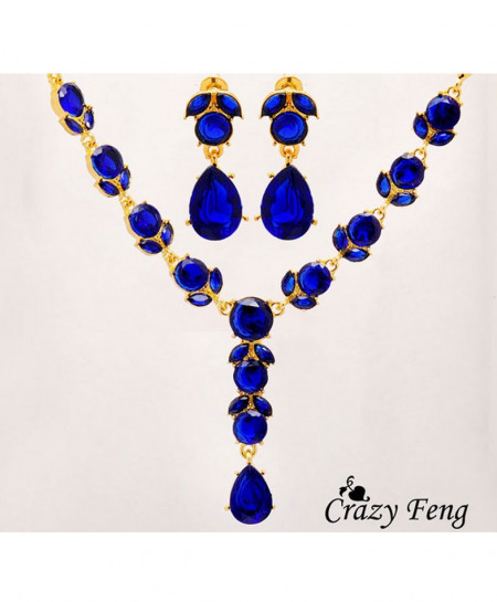 Blue Stylish Jewelery Set AM-135