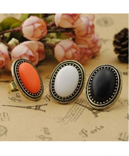 Pack Of 3 Oval Retro Ring
