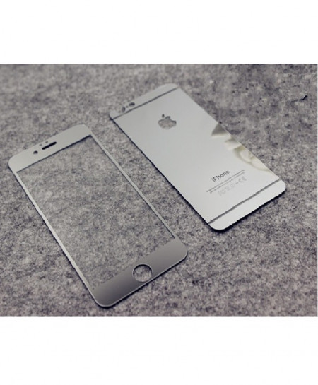 Iphone 6 Silver Tempered and Protector Glass Screen