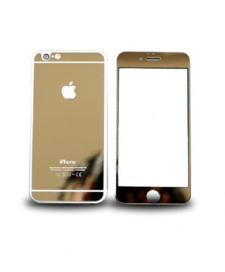 Iphone 6 Golden Tempered and Protector Glass Screen