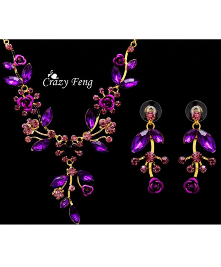 Purple Gold Plated Jewelery Set AM-152