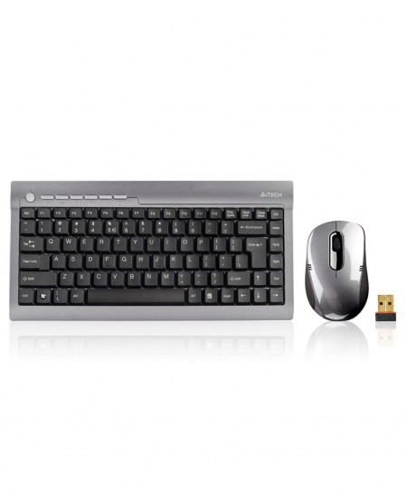 A4Tech Wireless Mini Keyboard And Mouse 7700N