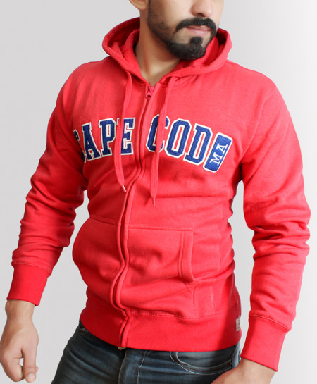 Red Cape Cod Zipper Hoodie