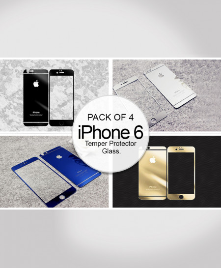 Pack of 4 iPhone 6 Tempered Protector Glass