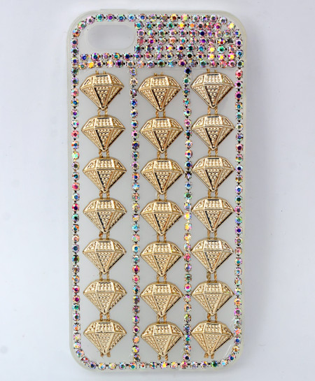 Iphone 5G Golden Diamante Fancy Case