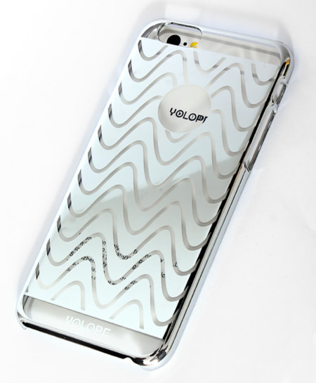 Iphone 6 Silver Wave Design Ultra Slim Aluminum Case