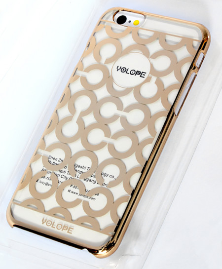 Iphone 6 Golden Round Design Ultra Slim Aluminum Case
