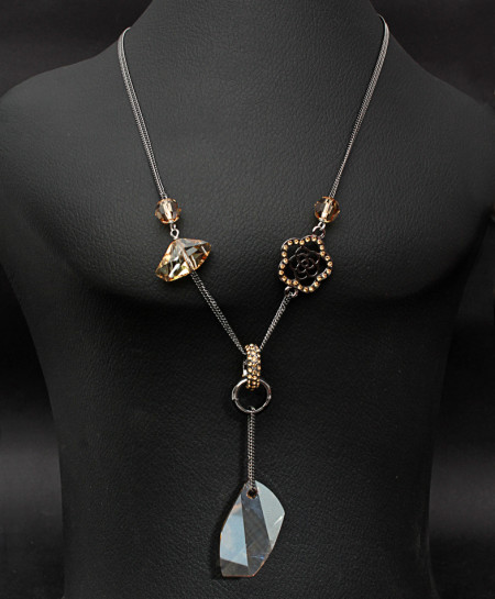 Black Necklaces with Stylish Pendants