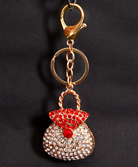 Fashion Crystal Handbag Alloy Keychain Holder KC-3
