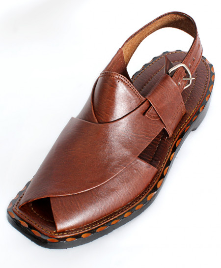 Dark Brown Peshawari Style Sandals CR-5269