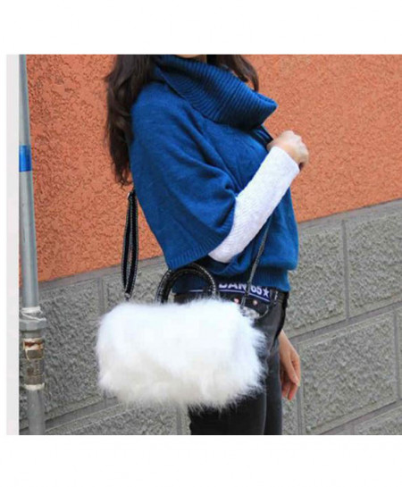 Rabbit Fur Shoulder Handbag