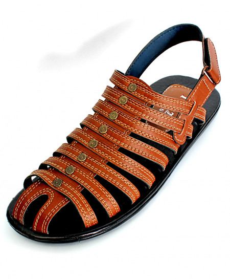 Mustard Brown Multi Strap Stylish Sandal R.11 NCP-021