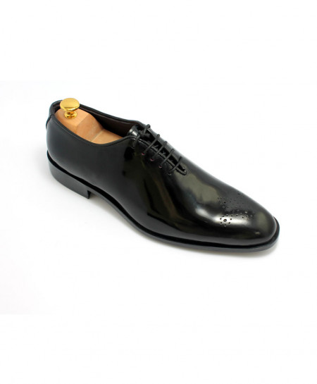 Corio Black Men Oxford Style Shoes With Punch JC-57