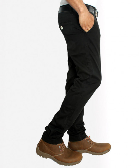 Black Stylish Men Causal Cotton Pant