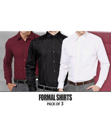 Pack Of 3 Formal Shirts FS-6100