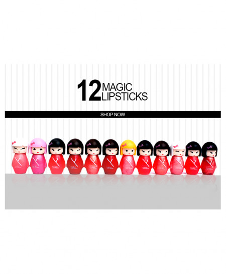 Pack of 12 Magic Lip Sticks KT-7023