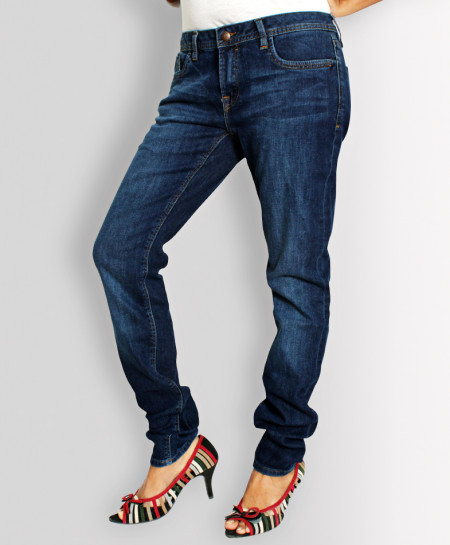 Dark Blue Narrow Bottom Ladies Jeans AJ-6103