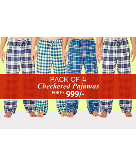 Pack Of 4 Checkered Pajamas CP-3246