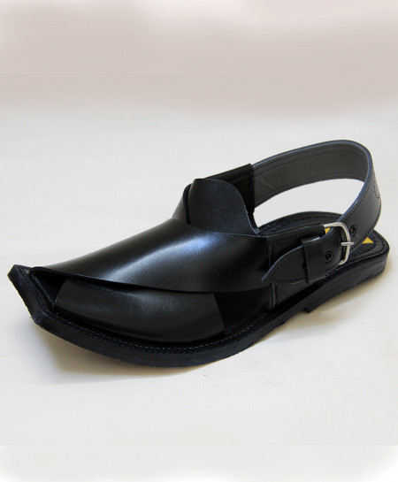Black Stylish Peshawari Sandal OM-5094