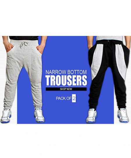 Pack Of 2 Narrow Bottom Summer Trousers FS-330