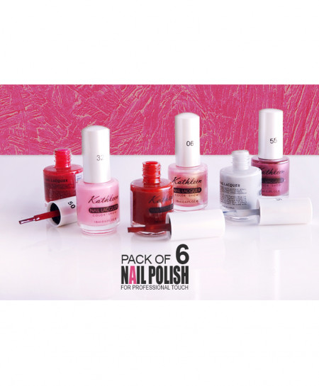 Pack Of 6 Nail Lacquer NL-2584