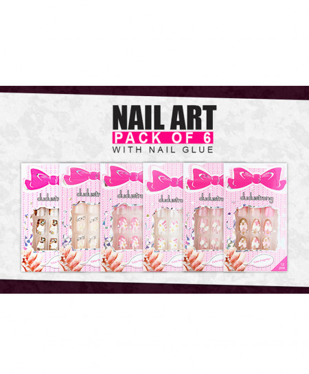 Pack Of 6 Nail Art NA-4535