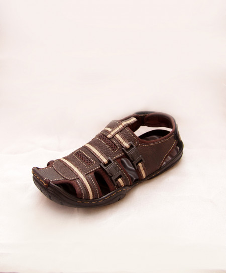 Brown Side Buckle Stylish Casual Sandal IS-006