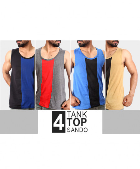 Pack Of 4 Stylish Tank Top Sando TS-3428