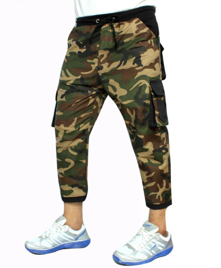 Camouflage Multi Pockets 3 Quarter Shorts TK-5416