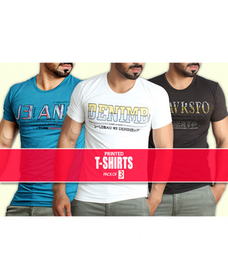 Pack Of 3 Printed T-Shirts NG-6518