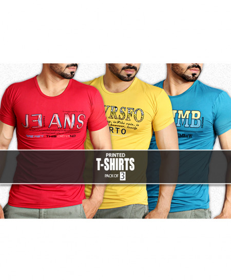 Pack Of 3 Printed T-Shirts NG-6519