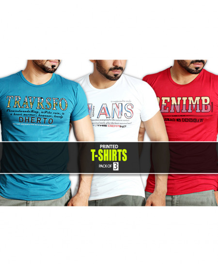 Pack Of 3 Printed T-Shirts NG-6522