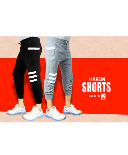 Pack Of 2 Harem Shorts HS-7897