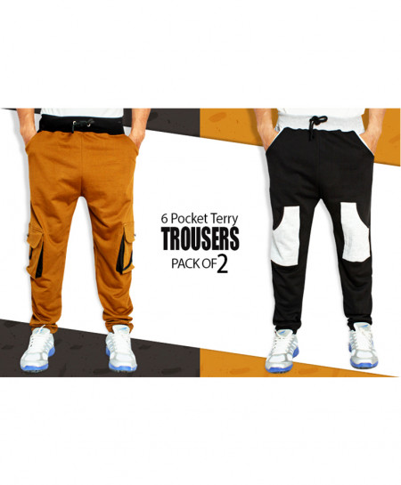 Pack Of 2 Multi Pocket Summer Narrow Trousers FS-916