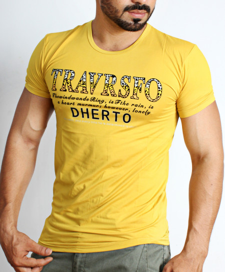 Yellow Dherto Logo T-Shirt NG-210