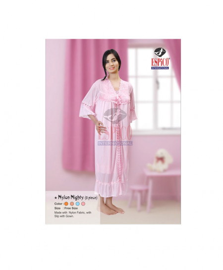 Espico Stylish Nylon Nighty 2 Piece