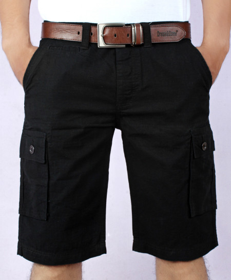 Black Mens Cargo Shorts MST-599