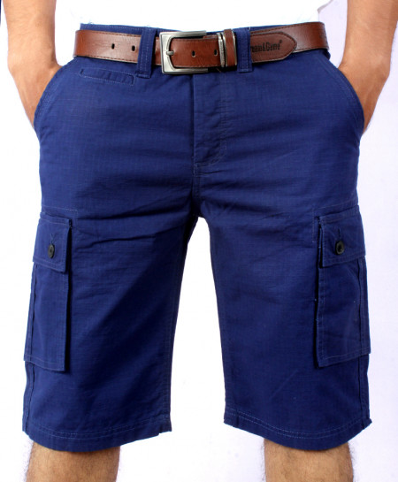 Dark Blue Mens Cargo Shorts MST-599