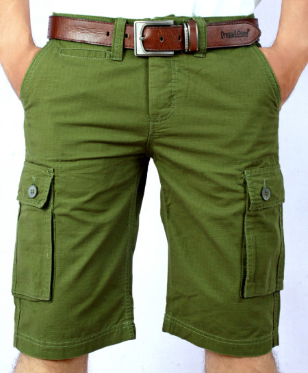 Green Mens Cargo Shorts MST-599