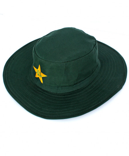 Green Wide Brim Sun Floppy Cricket Hat PCB Logo CPT-731