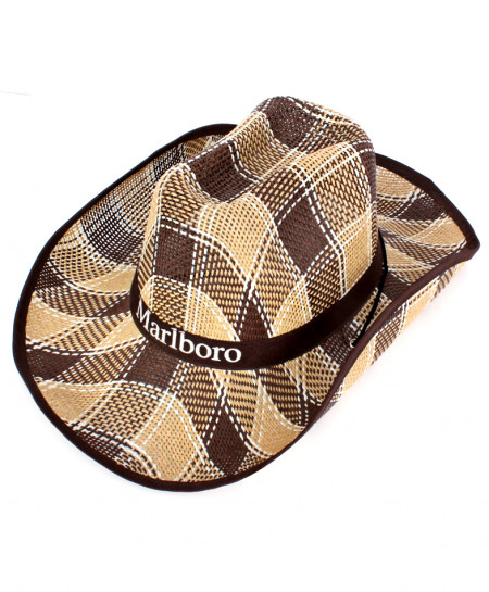 Choco Ribbon Cowboy Style Straw Hat CPT-732