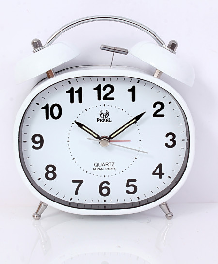 Pearl White Belling  Alarm Clock PD-240