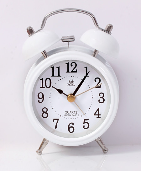 Pearl White Belling  Alarm Clock PD-241