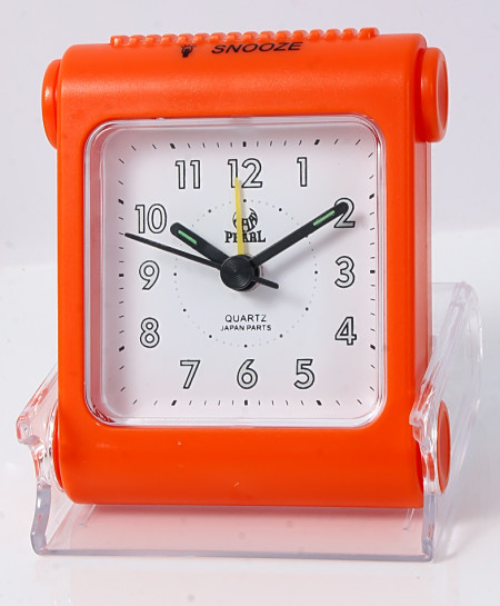 Pearl  Travelling Orange Alarm Clock B-11