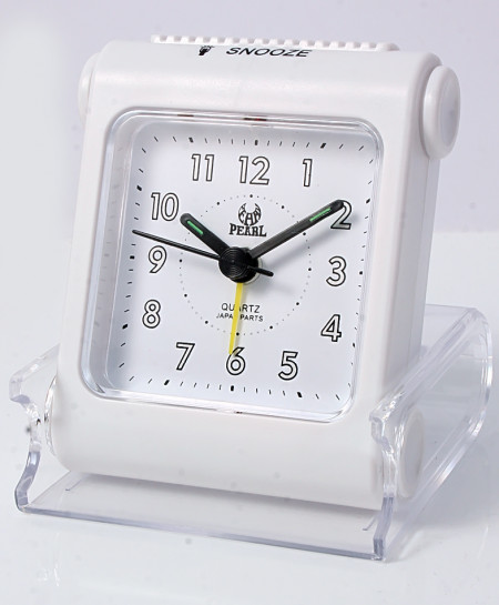 Pearl  Travelling Silver Alarm Clock B-11