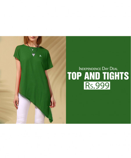 Pack Of Green Top and Tights TT-2561
