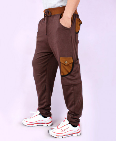 Choco Brown Cargo Pocket Style Trousers FS-7031