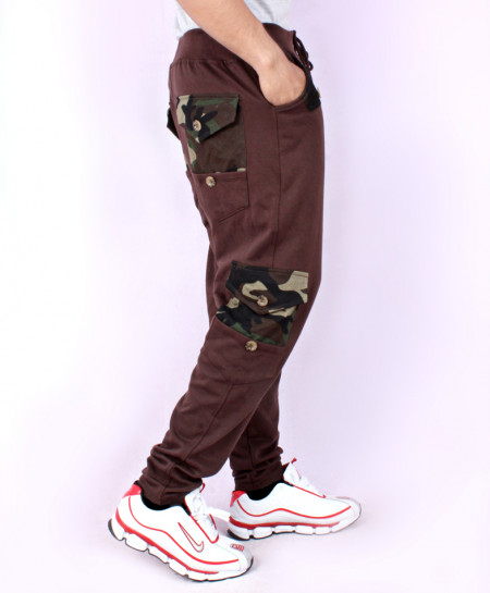 Choco Camouflage Cargo Pocket Style Trousers FS-7034