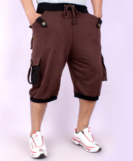 Choco Brown Cargo Pocket Style Shorts FS-7035