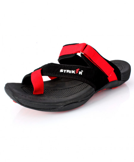 Black Red Cross Strap Design Slipper DR-711